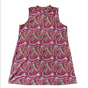 Lulu B Bold Print Swing Dress 1X ~ UPF 50+ Sporty